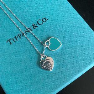 Jewelry - Return to Tiffany double mini heart pendant